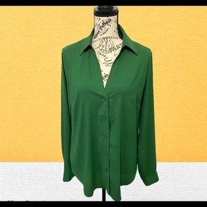 Ann Taylor V-neck button dowm shirt